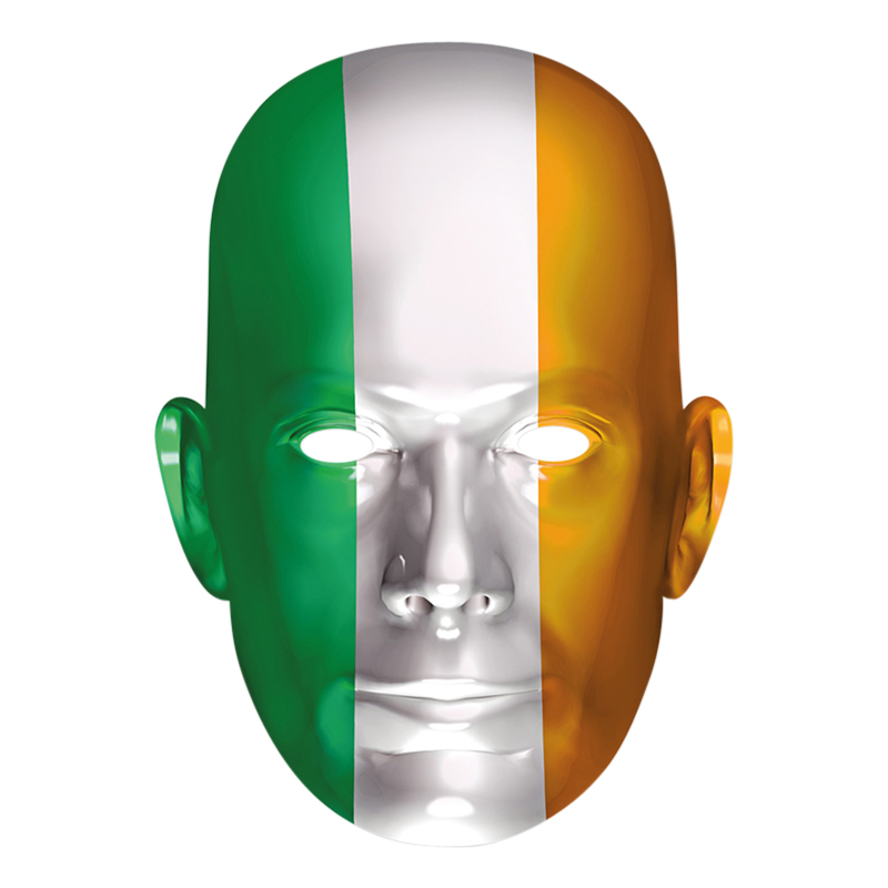 Irlands Flagga Pappmask