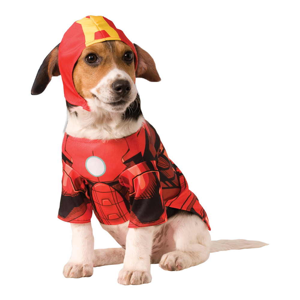 Iron Man Hund Maskeraddräkt - Small