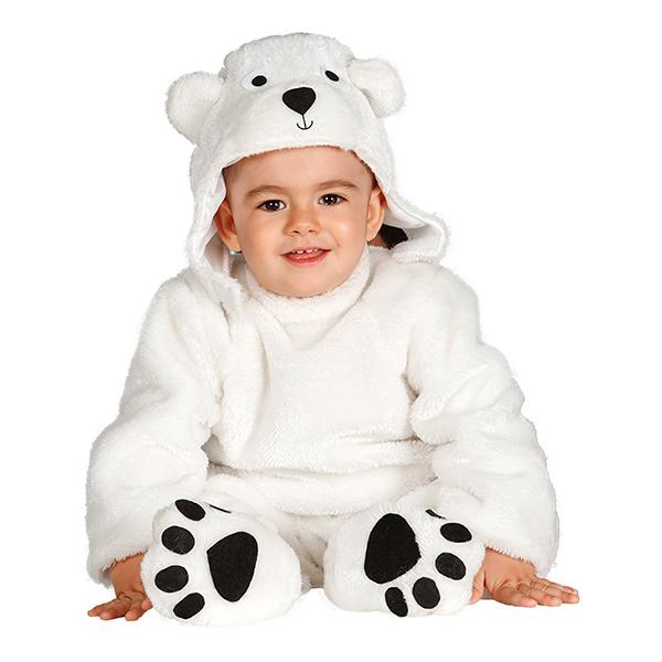 Isbjörn Bebis Maskeraddräkt - Small 6-12 mån