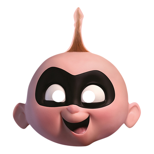 Jack-Jack Incredible Pappmask