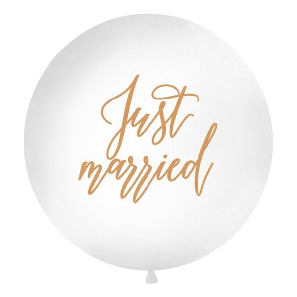 Jätteballong Just Married