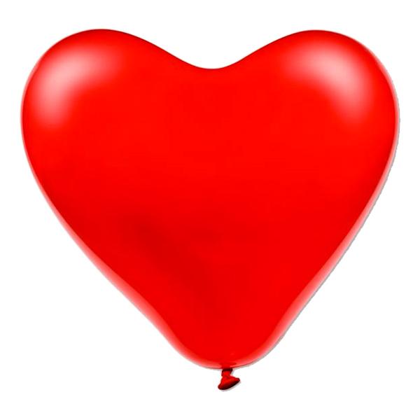 Jätteballonger Hjärtan Röda - 10-pack