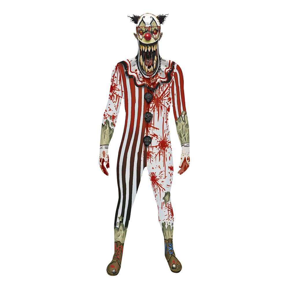 Jaw Dropper Clown Morphsuit - Medium