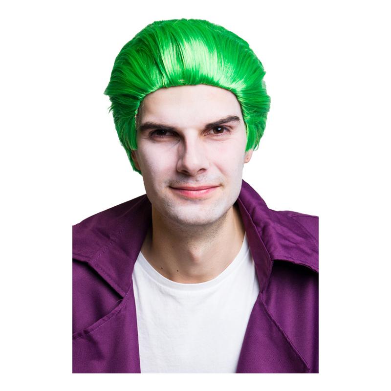 Joker Grön Peruk - One size