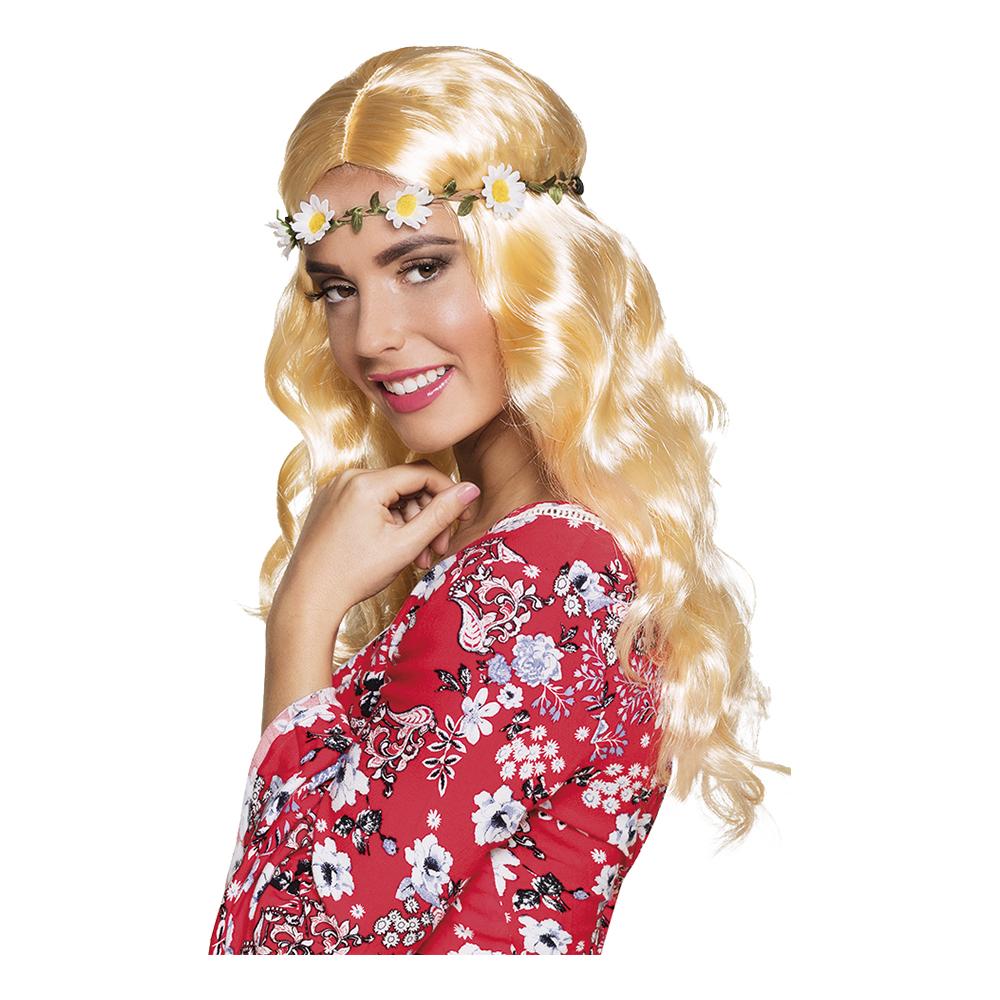 Joy Blond Peruk med Pannband - One size