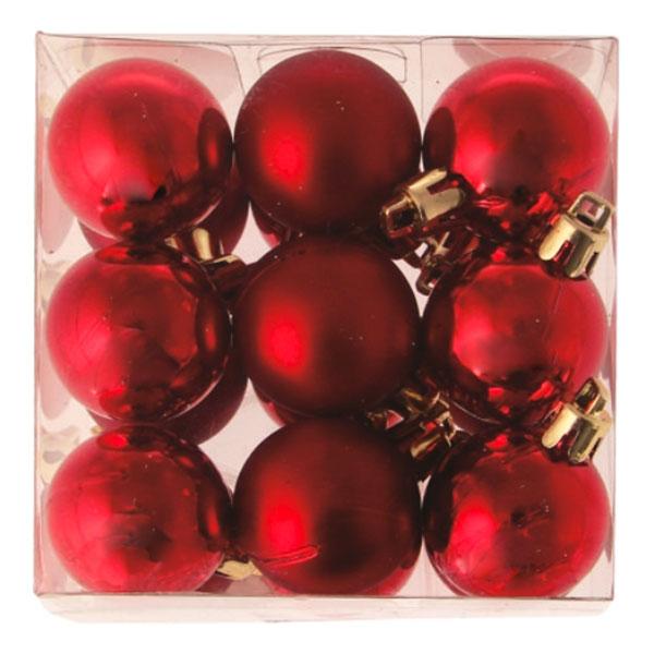 Julgranskulor Röda Små - 18-pack