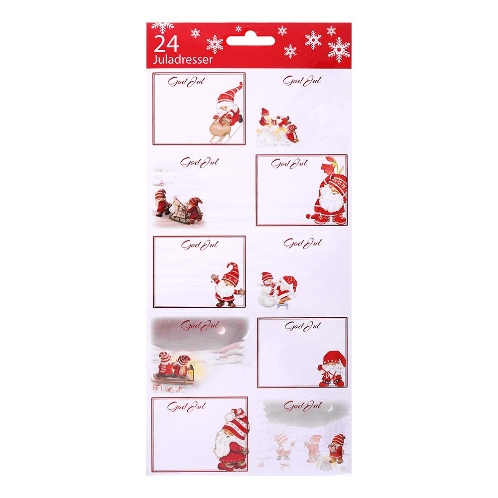 Julklappsetiketter - 24-pack