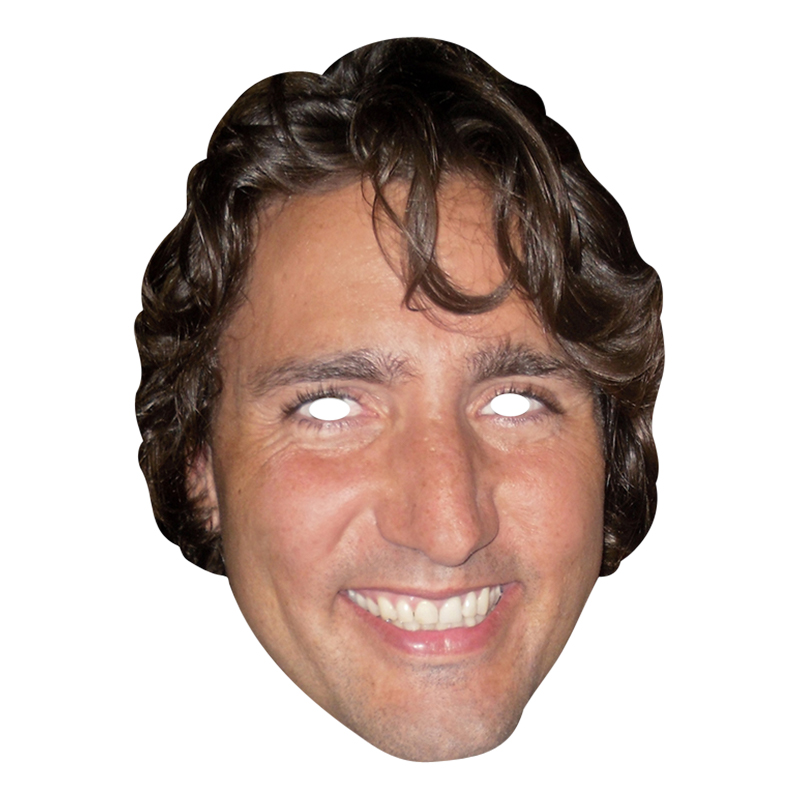 Justin Trudeau Pappmask