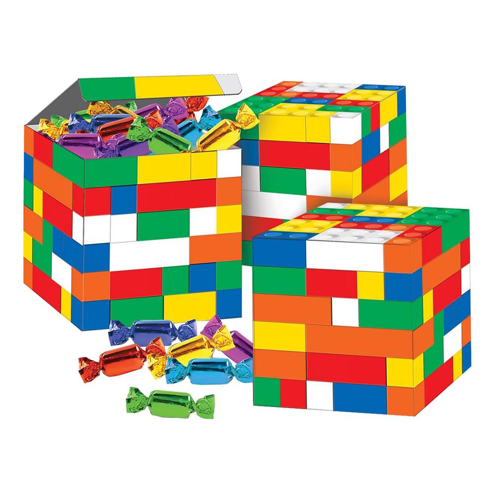Kalasboxar Byggklossar - 3-pack