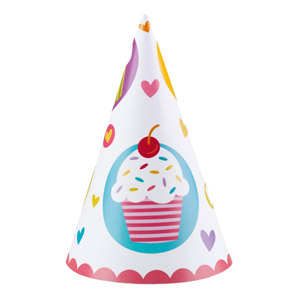Partyhattar Cupcake - 6-pack