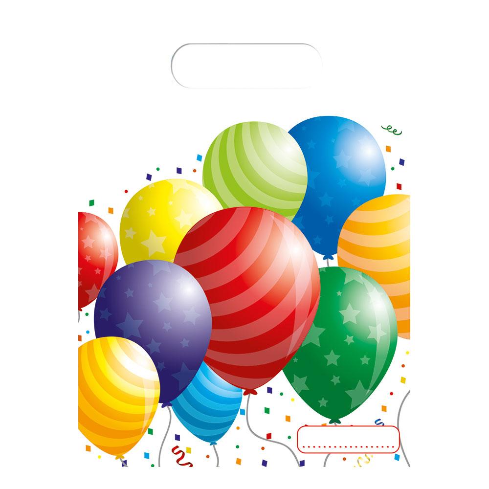 Kalaspåsar Ballonger - 6-pack