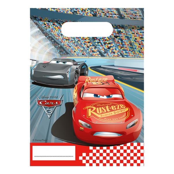Kalaspåsar Bilar/Cars 3 - 6-pack