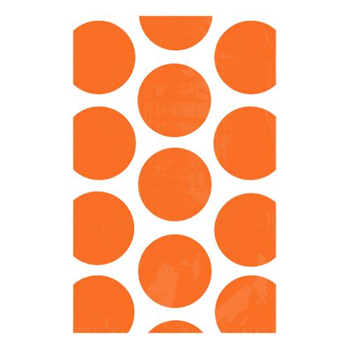 Kalaspåsar Polka Dot Orange - 10-pack