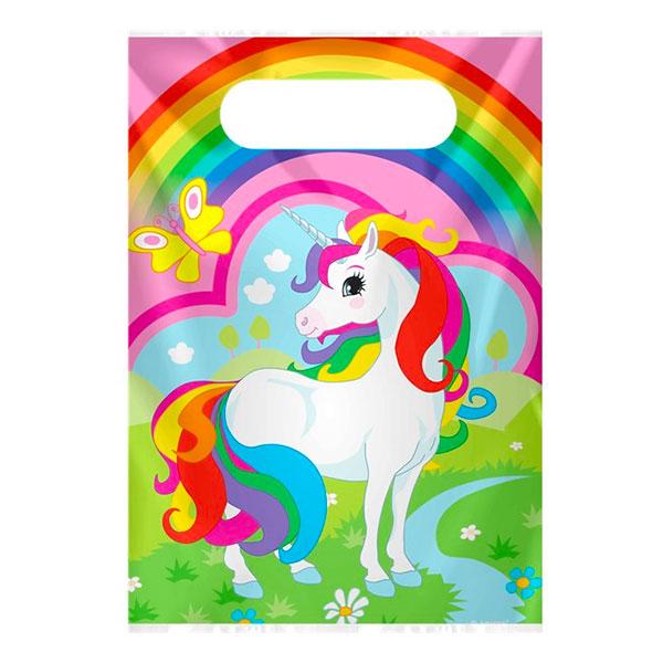 Kalaspåsar Rainbow Unicorn - 8-pack