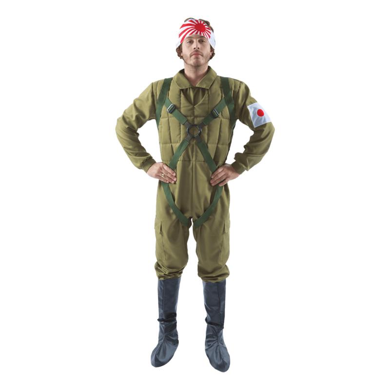 Kamikaze Pilot Maskeraddräkt - X-Large
