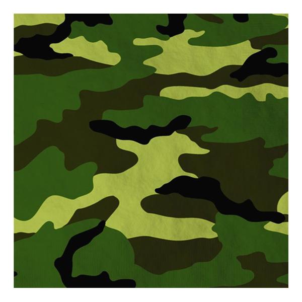 Kamouflage Servetter - 16-pack