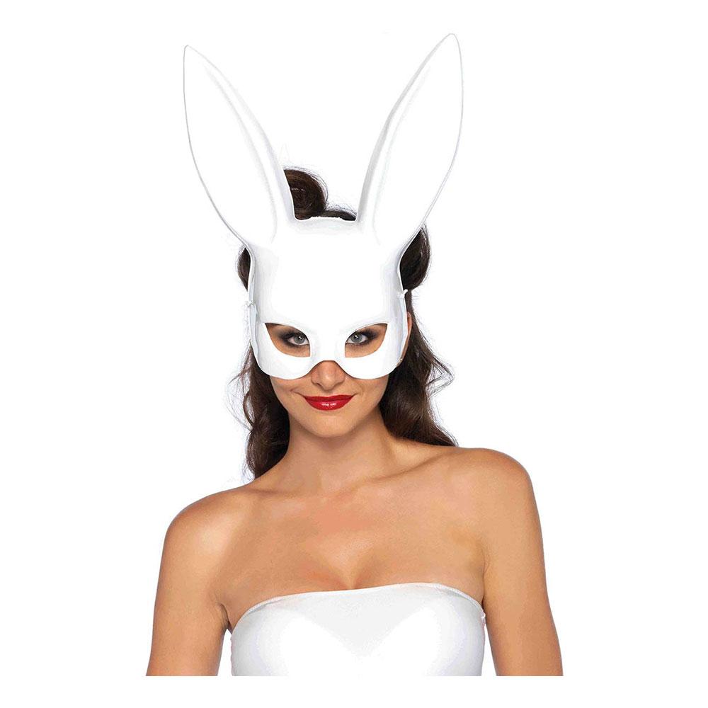 Kanin Teatermask Vit Deluxe - One size