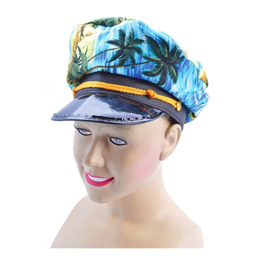 Kaptenshatt med Hawaiimönster - One size