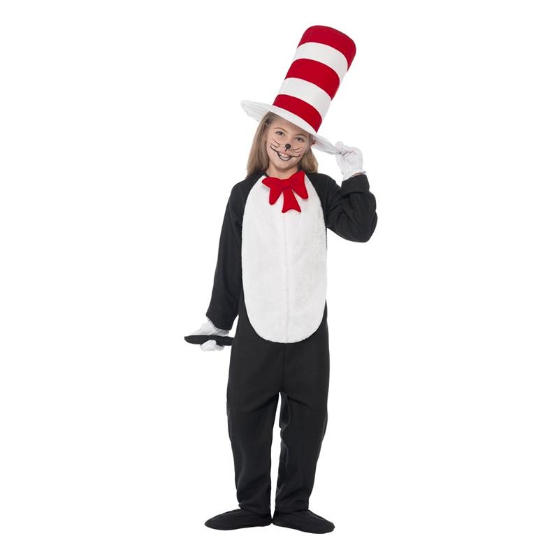 Katten i Hatten Barn Maskeraddräkt - Small