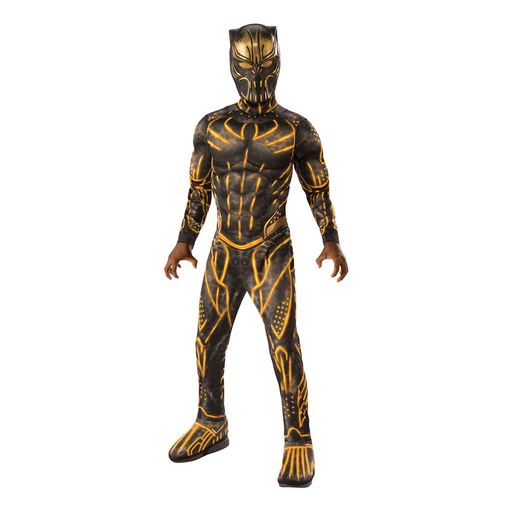 Killmonger Deluxe Barn Maskeraddräkt - Medium