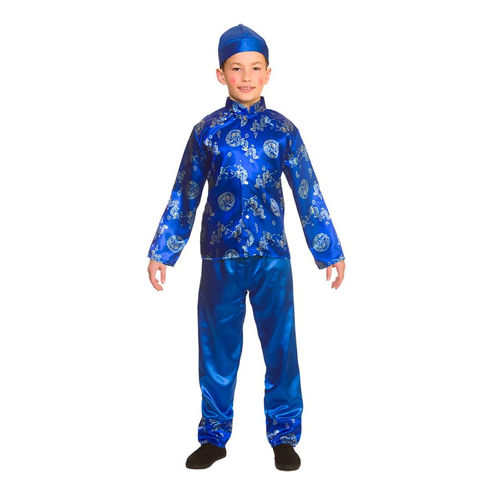 Kinesisk Pojke Barn Maskeraddräkt - Medium