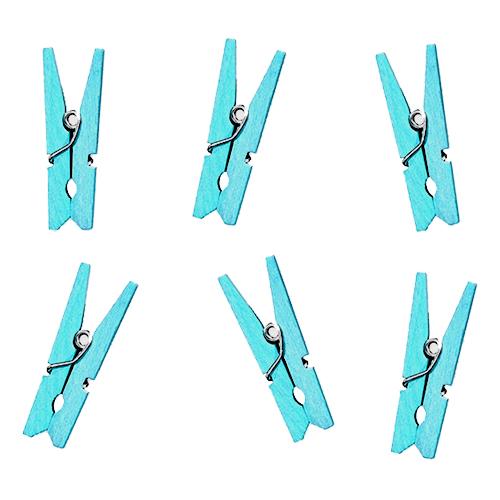 Klädnypor Små Ljusblå - 20-pack