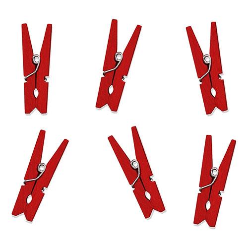Klädnypor Små Röda - 20-pack