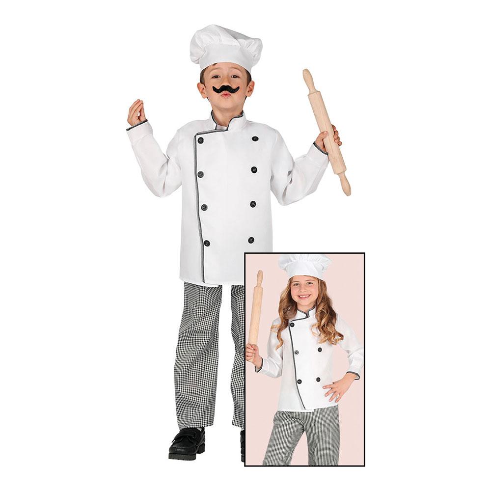 Klassisk Kock Barn Maskeraddräkt - Small