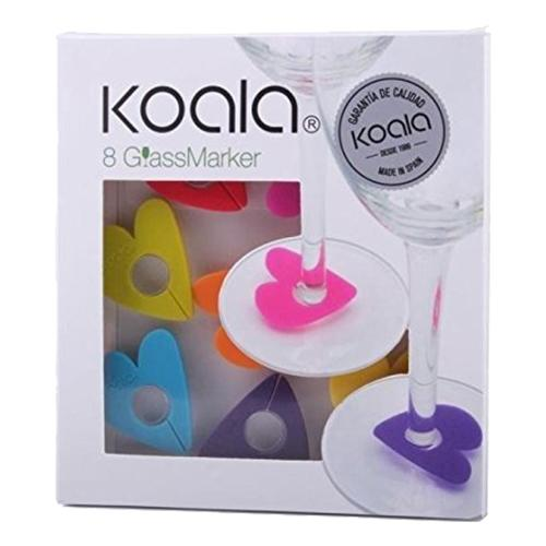 Koala Glasmarkörer - Hjärtan
