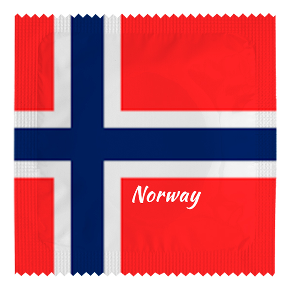 Kondom Norsk Flagga