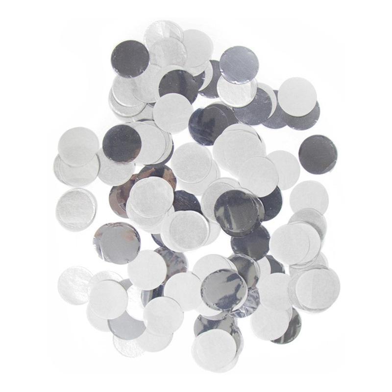 Konfetti Runda Silver