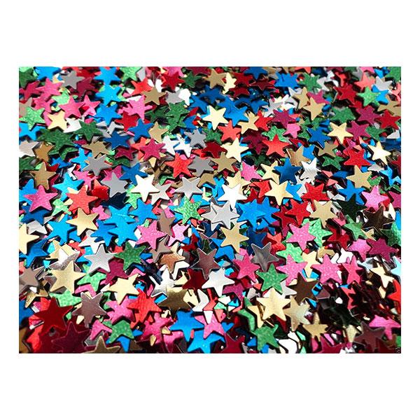 Konfetti Stjärnor Metallic Flerfärgade - 25 gram