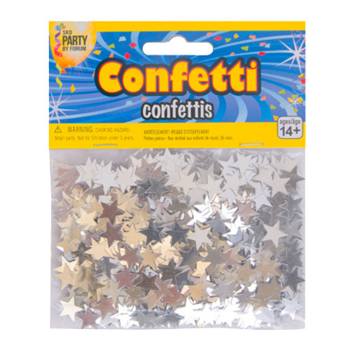Konfettistjärnor Silver - 14 gram
