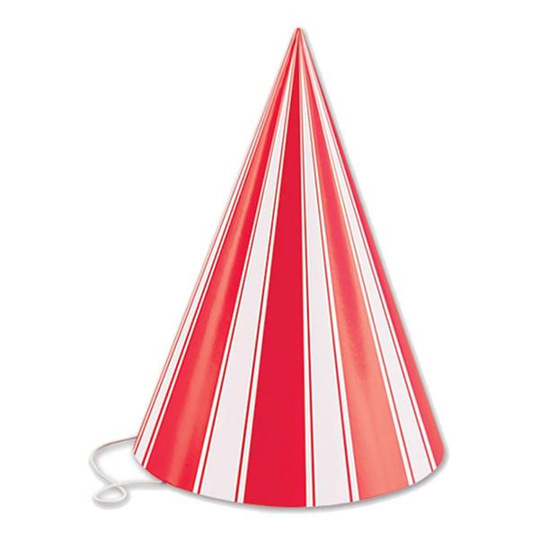 Konhattar Röd/Vit-Randiga - 8-pack