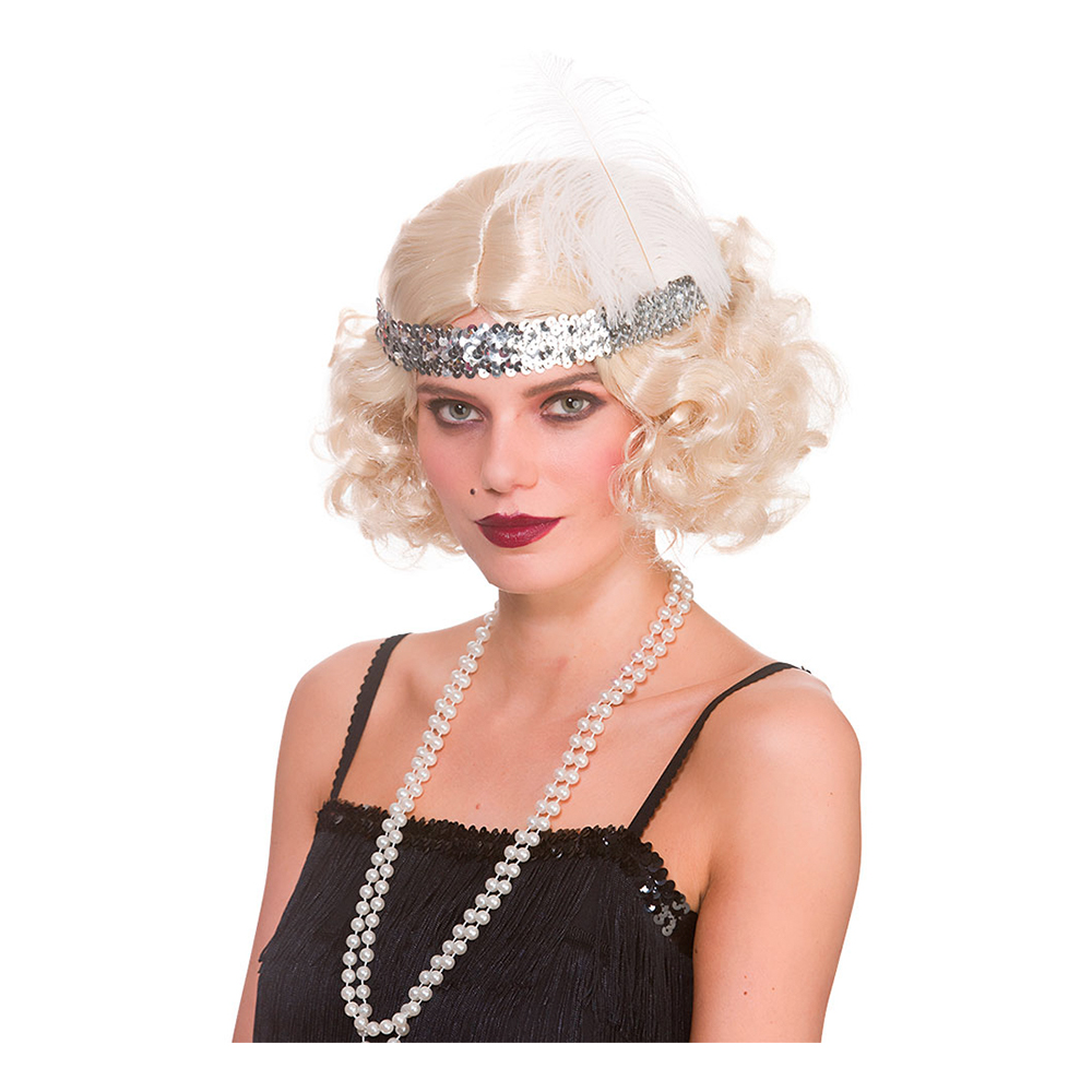 Kort Blond Flapper Peruk - One size