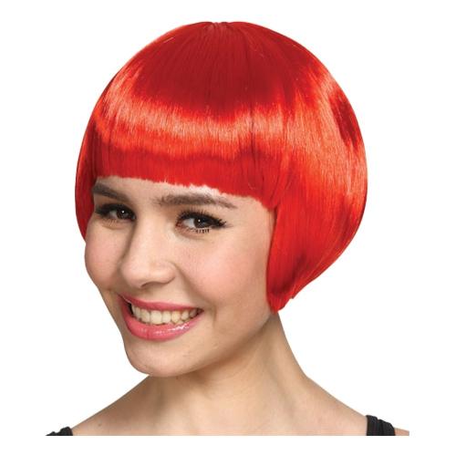 Kort Röd Peruk - One size