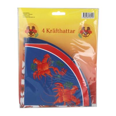 Kräfthattar Blå - 4-pack