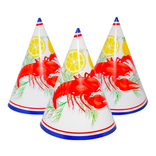 Kräftskiva Partyhatt - 6-pack