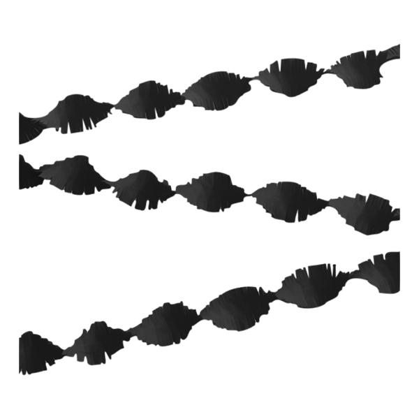Kräppgirlang Svart - 6 meter