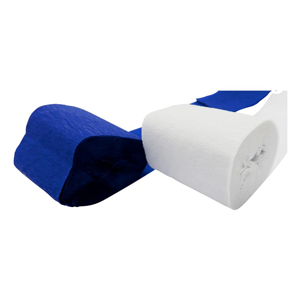 Kräpprullar Blå/Vit - 2-pack