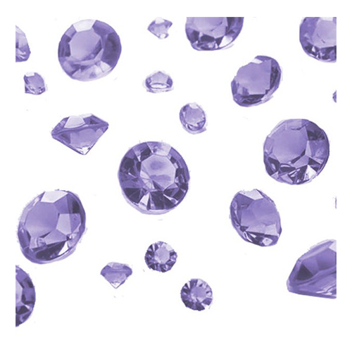 Kristalldiamanter Ljuslila Mix - 100 gram