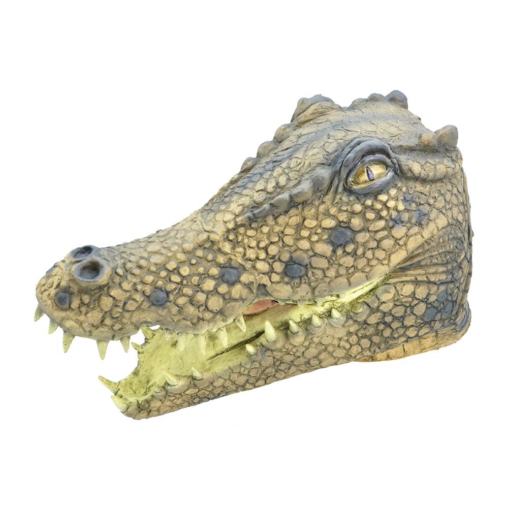 Krokodilmask i Gummi - One size