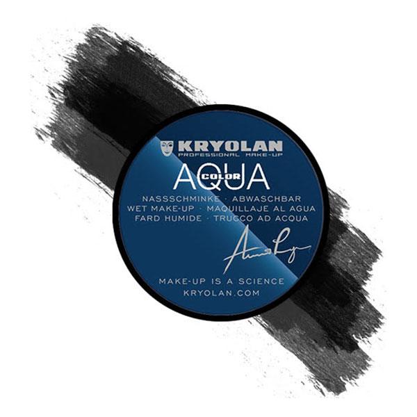 Kryolan Aquacolor Smink 55 ml - Svart