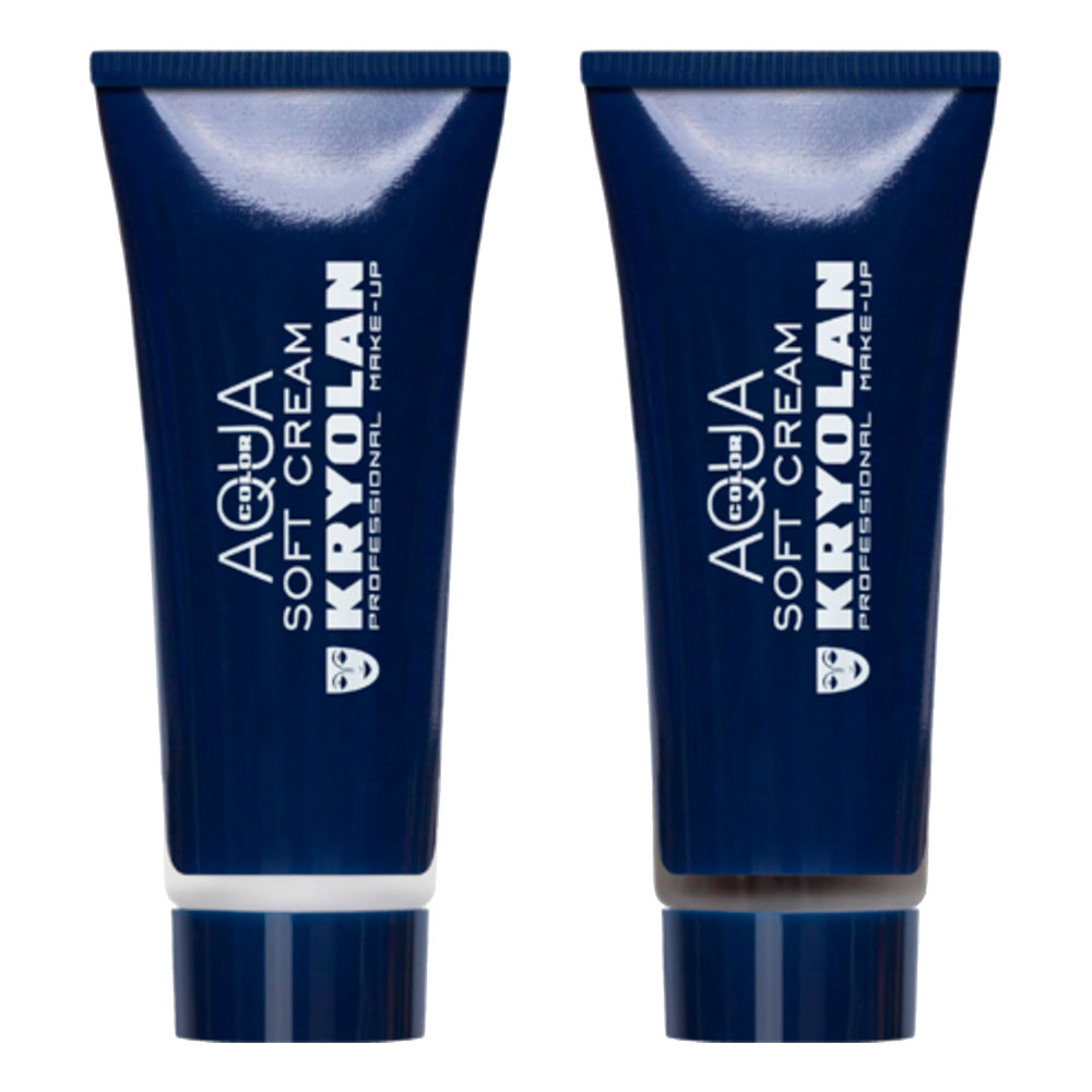 Kryolan Aquacolor Soft Cream på Tub - Svart