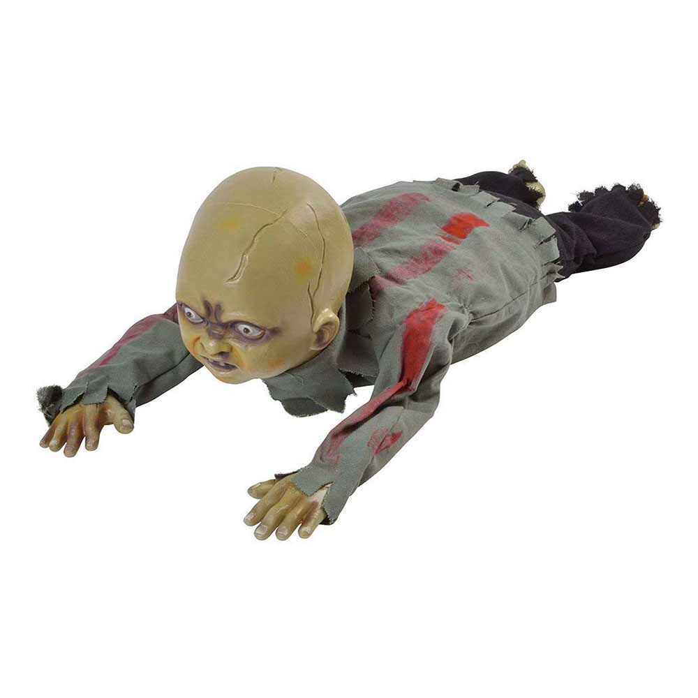 Krypande Zombie Bebis Animerad Prop