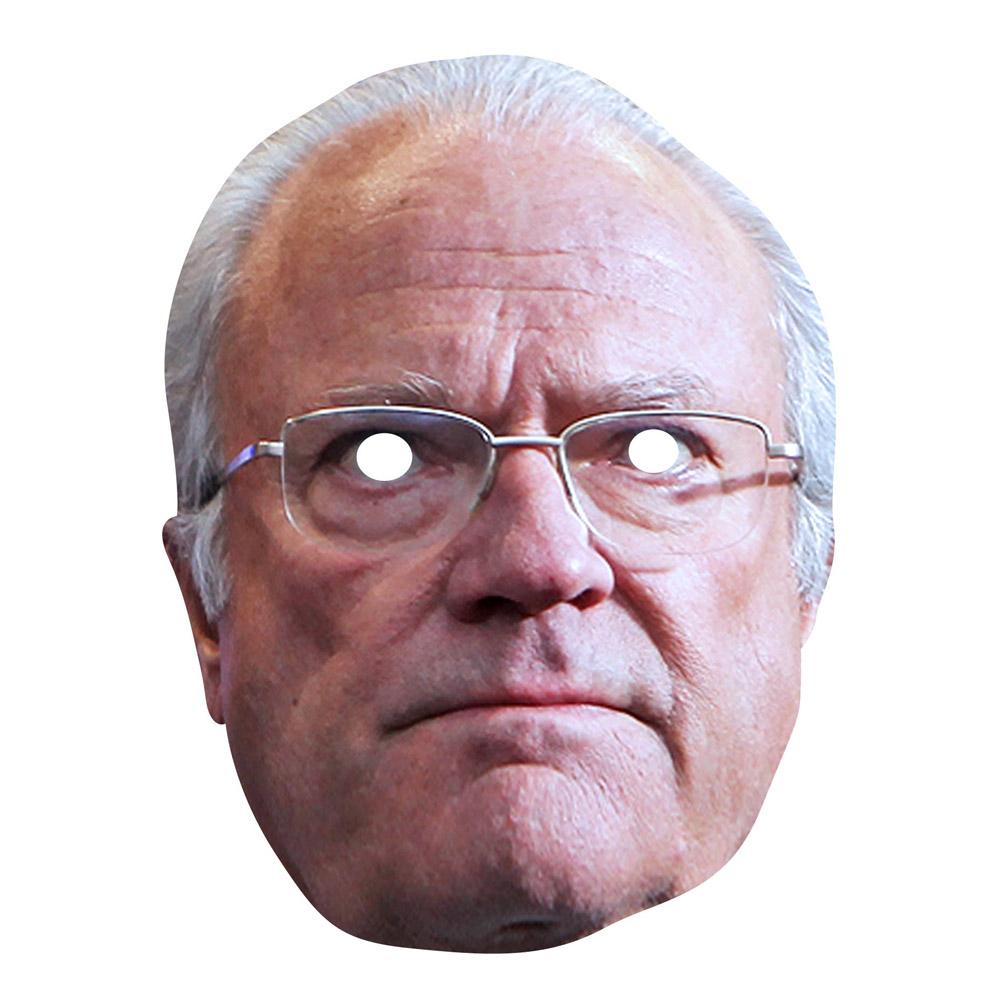 Kung Carl XVI Gustaf Pappmask