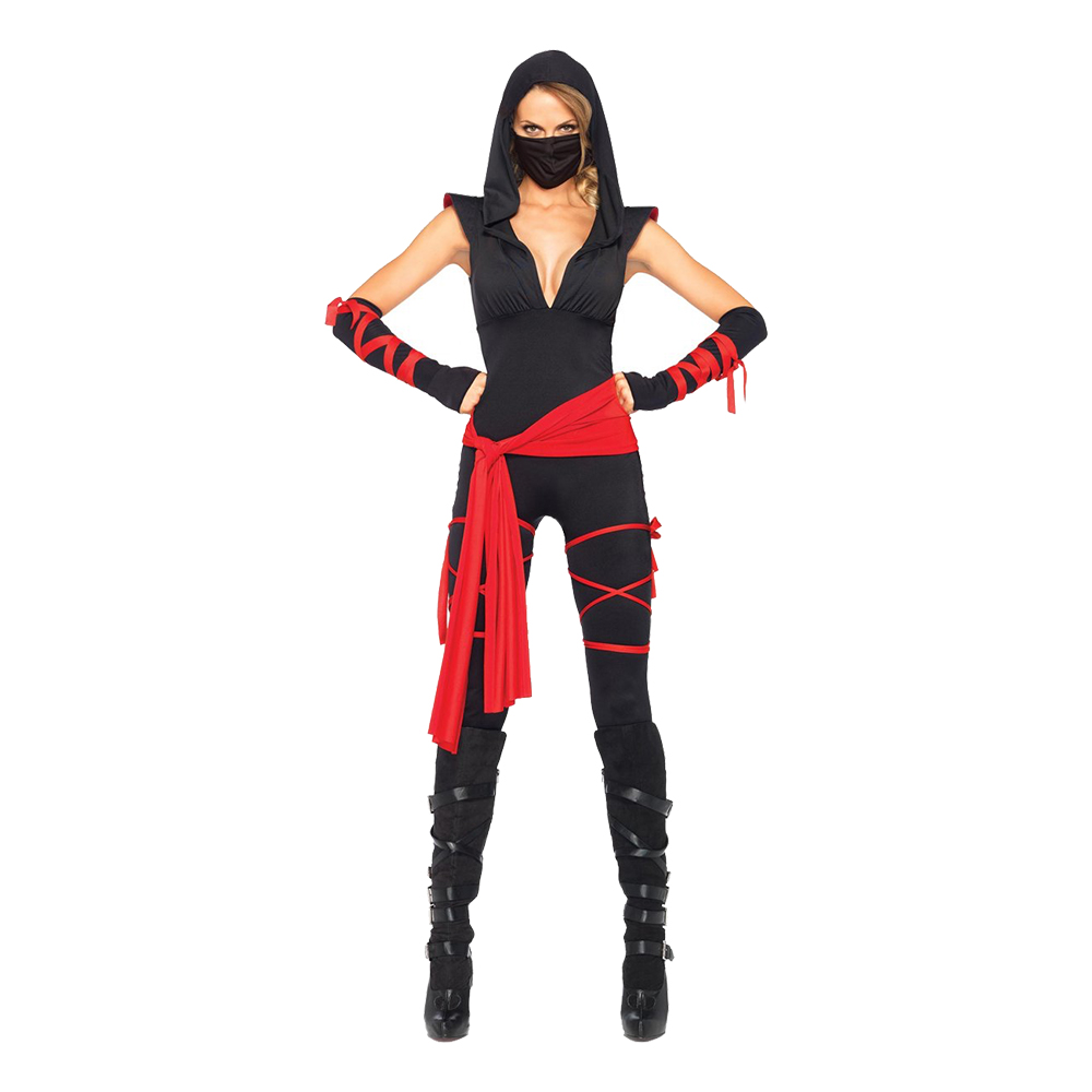 Kvinnlig Ninja Deluxe Maskeraddräkt - Small