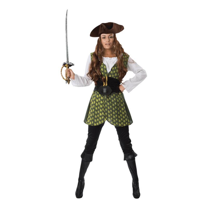 Kvinnlig Pirat Maskeraddräkt - Small