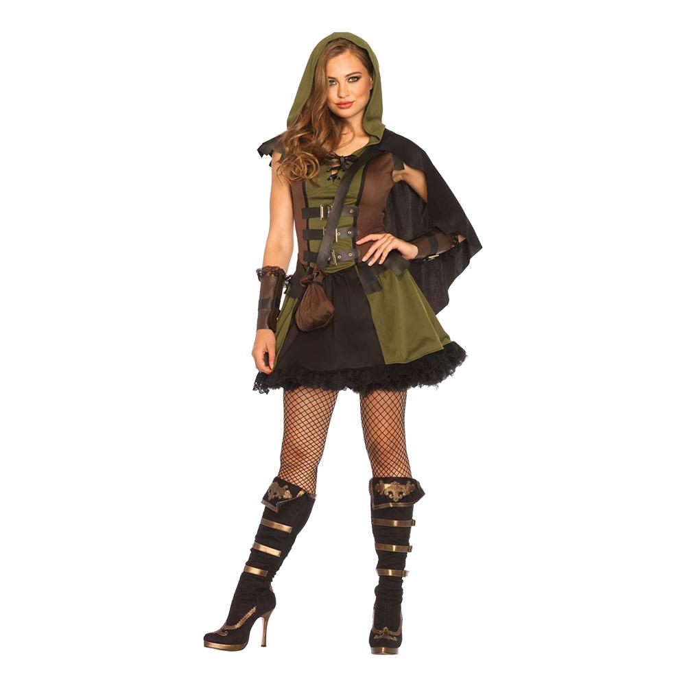 Kvinnlig Robin Hood Deluxe Maskeraddräkt - Small