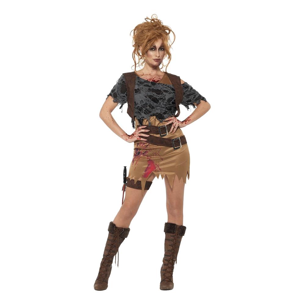 Kvinnlig Zombiejägare Maskeraddräkt - X-Small